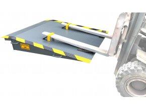 Mobilní kontejnerová rampa GK, délka 1800 mm, šířka 1520 mm