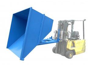 Výklopný kontejner pro vysokozdvižný vozík, objem 1500 litrů