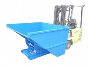 Výklopný kontejner pro vysokozdvižný vozík, objem 2000 litrů
