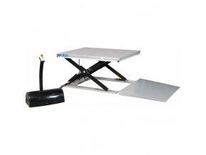 niskoprofilowy nozycowy stol podnosny z rampa sl1003