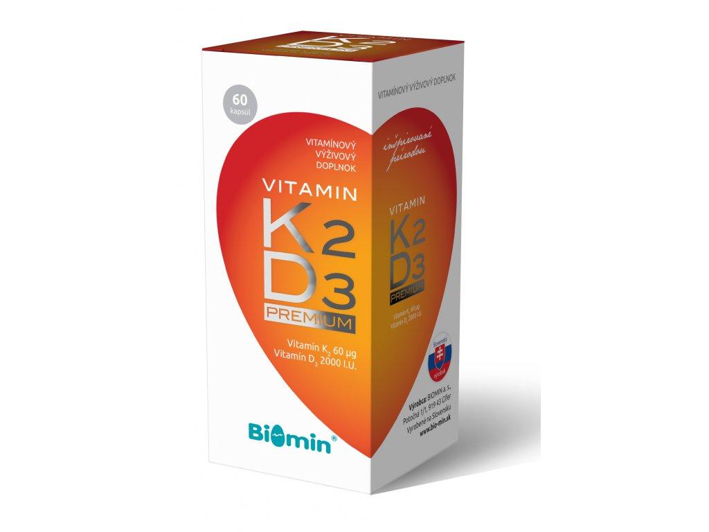 vitamin k2 d3 premium biomin 60 kapsul ilieky