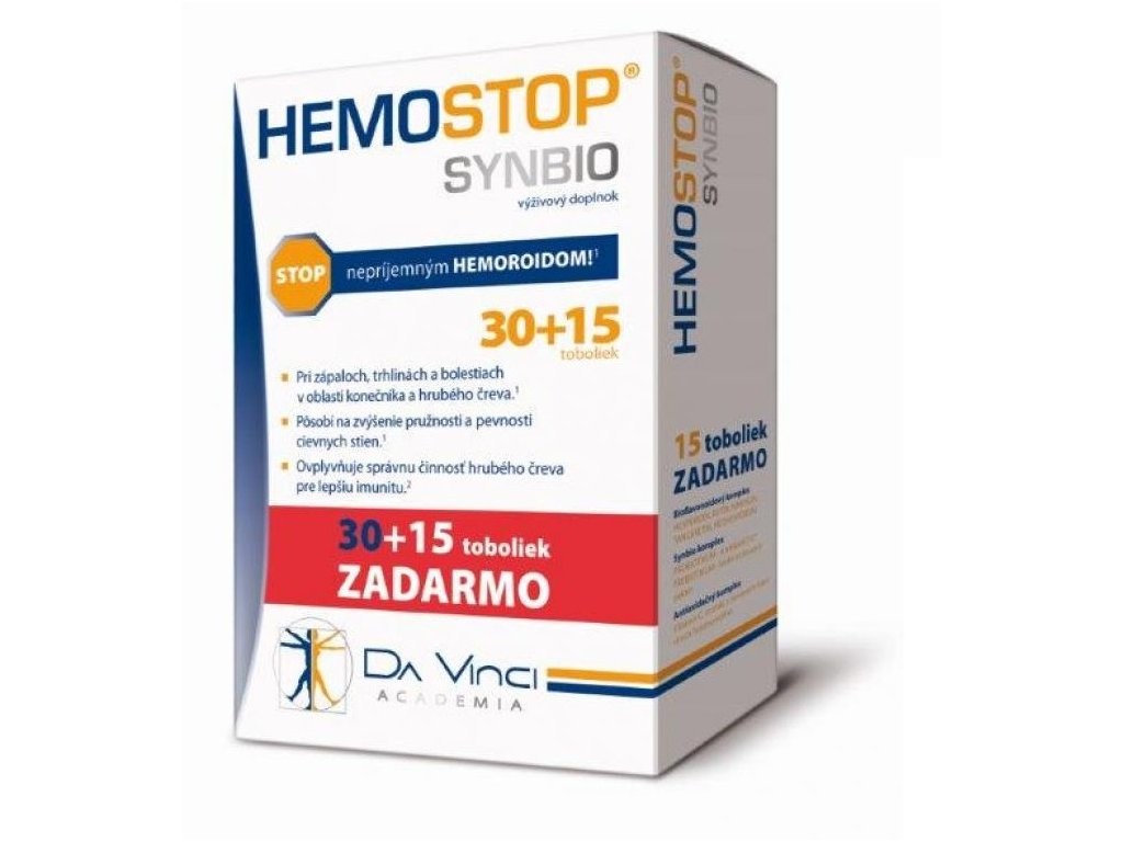 hemostop synbio 30+15 zdarma ilieky