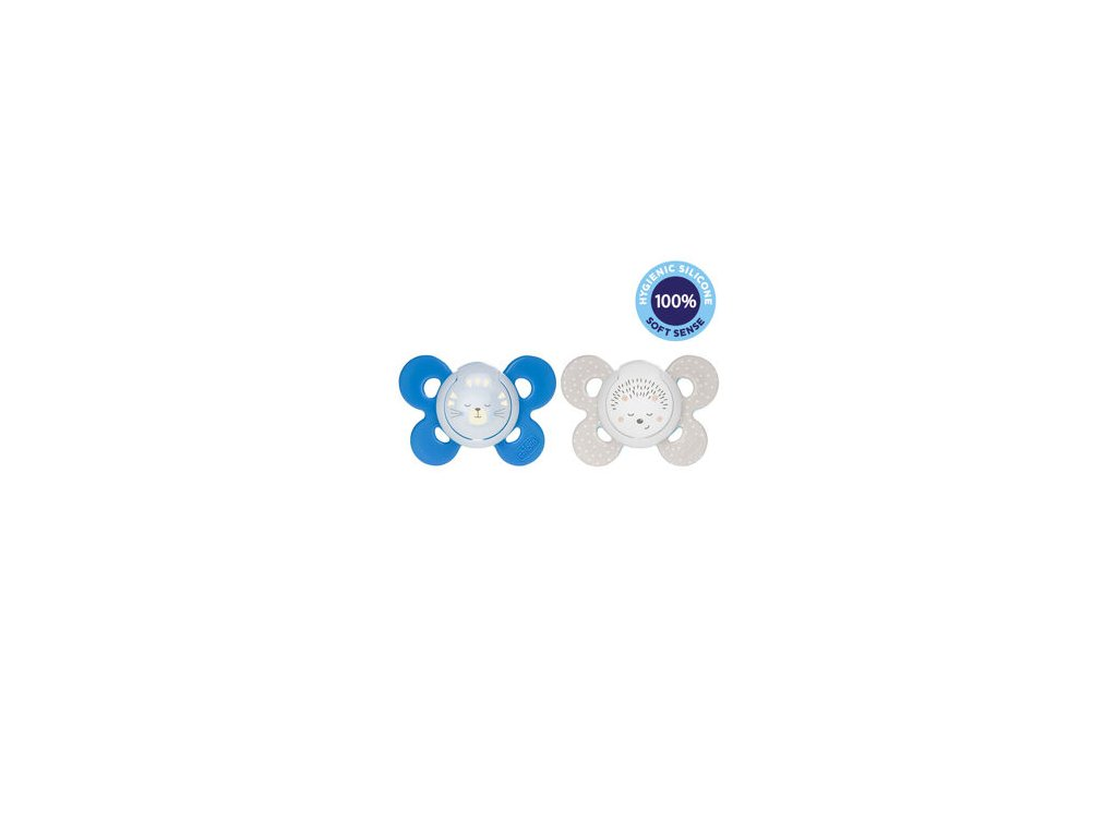Chicco PHYSIO COMFORT LUMI 16-36m silikónový cumlík svietiaci, modrý