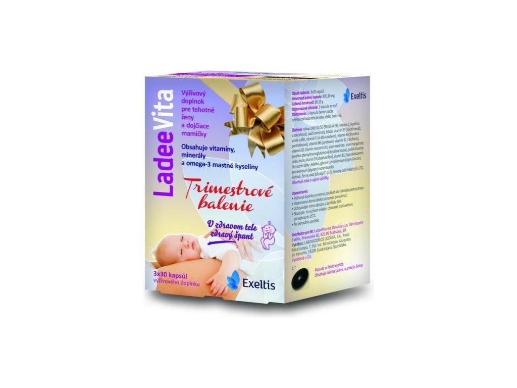 ladeevita ladeepharma trimestrove balenie 90 3x30 kapsul ilieky