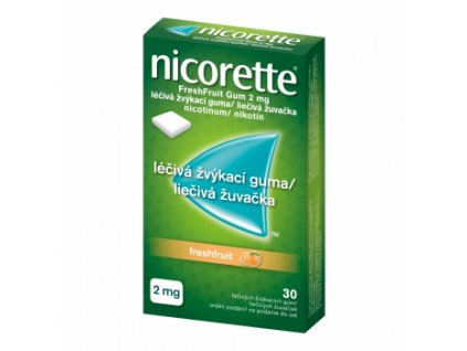 nicorette freshfruit 2 mg 30 ks lekarenmoja sk