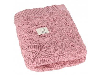 YOSOY Waves Detská deka z 100% organickej bavlny, 100x80 cm, Daisy Pink