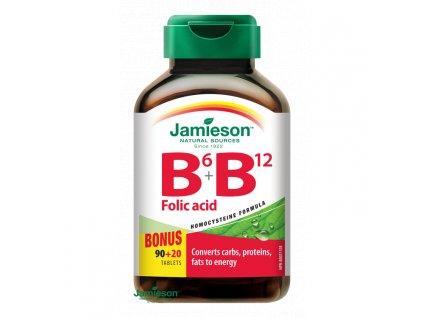 jamieson vitamin b6+b12+kyselina listova 110tbl ilieky
