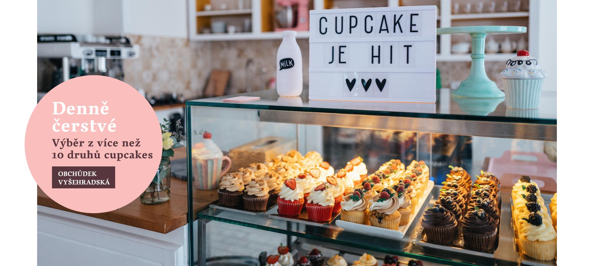 Denně čerstvé cupcakes