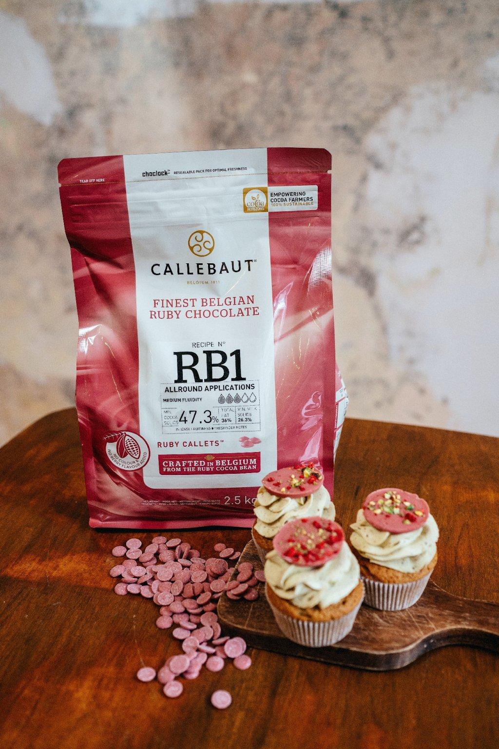 Čokoláda Callebaut RUBY 2,5kg