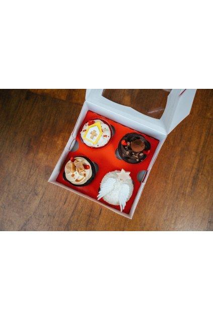Mikulášské cupcakes 4ks (v krabičce)