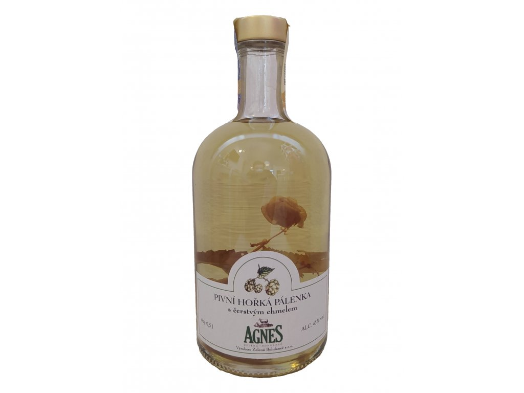 Pivní pálenka s chmelem Agnes 0,5l (Kosher pálenka)
