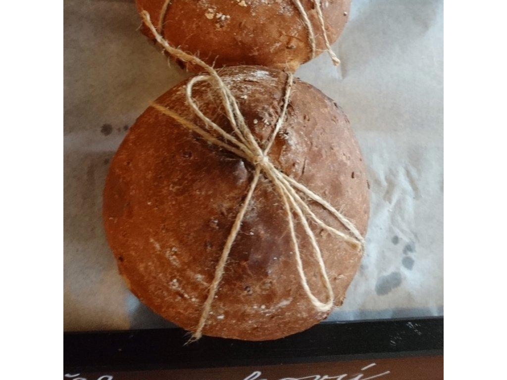 Lískoořechový/škvarkový chlebík