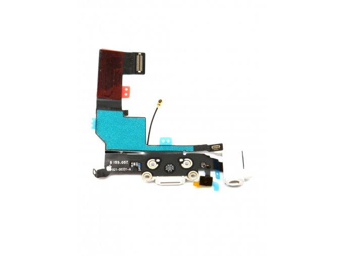 1229 apple iphone se nabijaci konektor jack konektor mikrofon flex kabel farba biela