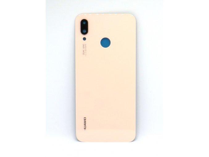 Huawei P20 Lite - Kryt zadný + kryt fotoapárátu, farba ružová