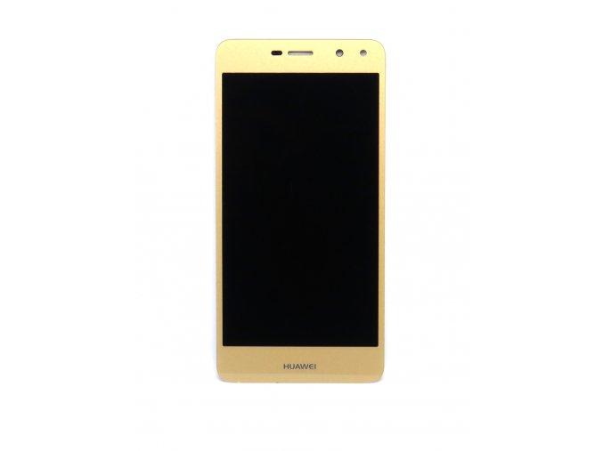 Originál LCD Displej Huawei Y6 2017 + dotyková plocha zlatá  -originál kvalita, farba zlatá