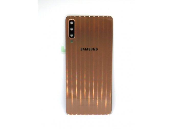 Samsung A7 2018 (a750) - Kryt zadný + kryt fotoapárátu, farba zlatá