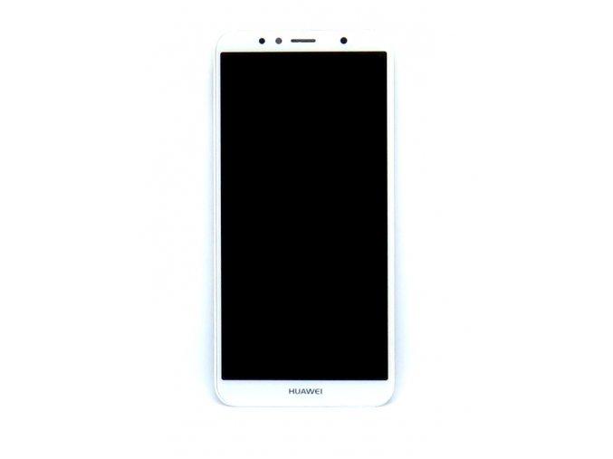 Originál LCD Displej Huawei Y6 2018 / Y6 Prime 2018 + dotyková plocha biela + Rám  -originál kvalita, farba biela + rám