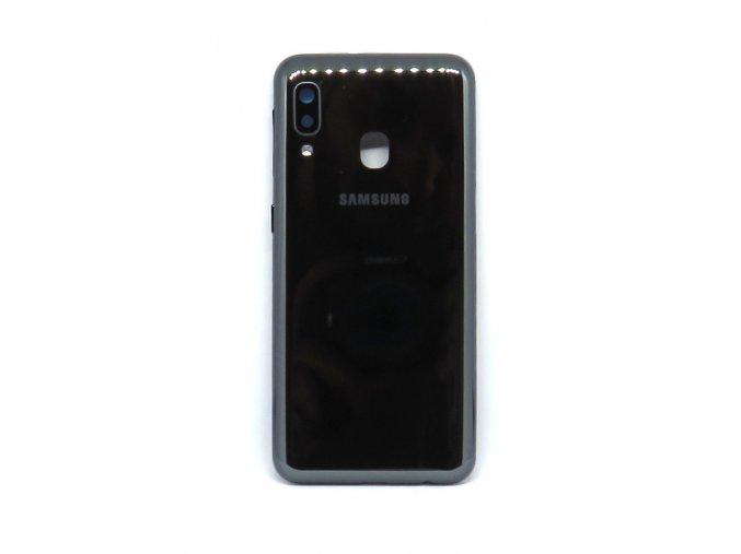 Samsung A20e (SM-A202F) - Kryt zadný + kryt fotoaparátu, farba čierna  farba čierna
