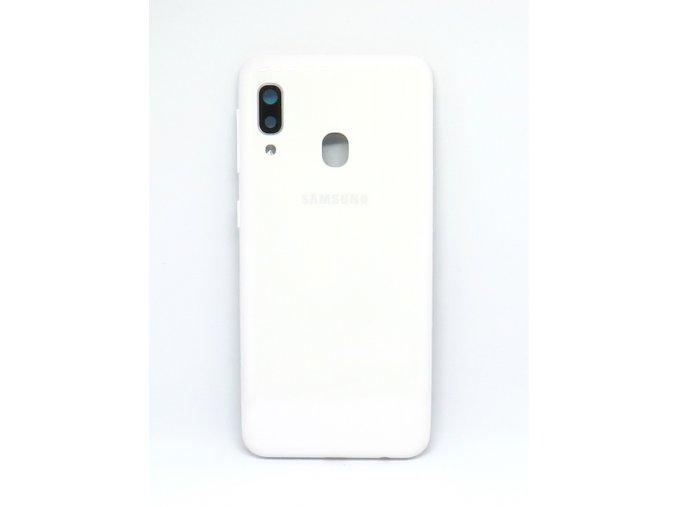 Samsung A20e (SM-A202F) - Kryt zadný + kryt fotoaparátu, farba biela  farba biela
