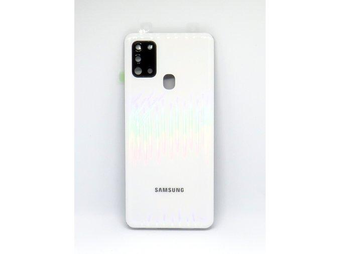 Samsung galaxy A21s (A217F) - Kryt zadný + kryt fotoapárátu, farba biela
