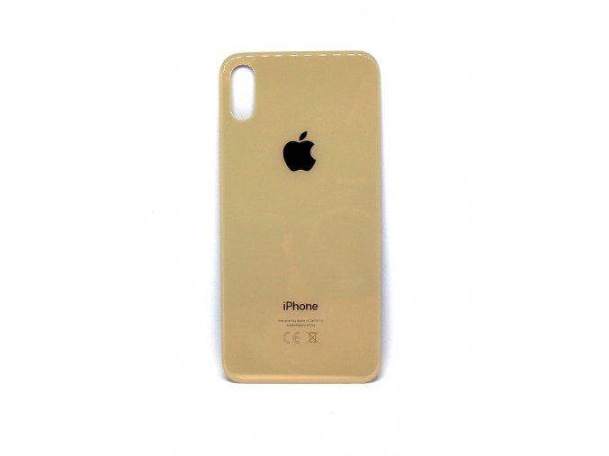 Iphone X zadné sklo + Sklíčko kamery - zlatá farba