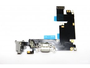1238 apple iphone 6 plus nabijaci konektor jack konektor mikrofon flex kabel siva