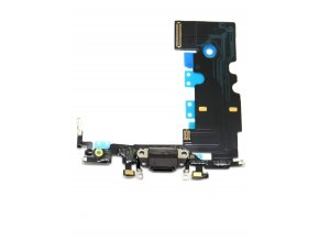 1274 3 apple iphone 8 nabijaci konektor mikrofon flex kabel farba cierna