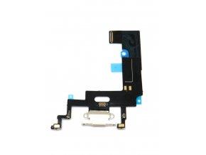 1304 3 apple iphone xr nabijaci konektor flex kabel farba biela