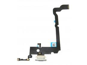 1316 3 apple iphone xs max nabijaci konektor flex kabel farba biela