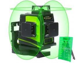 Laserový samonivelizačný 3D 12 líniový prístroj Huepar + prijímač