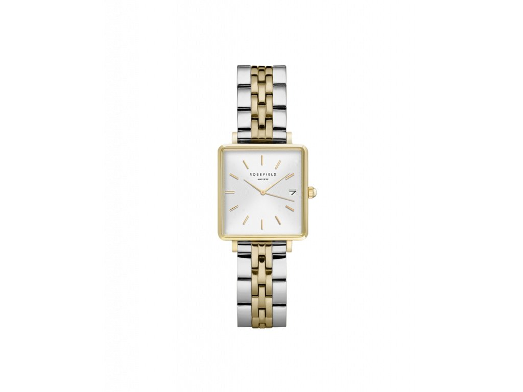 1002 the boxy xs white sunray steel silver gold duo
