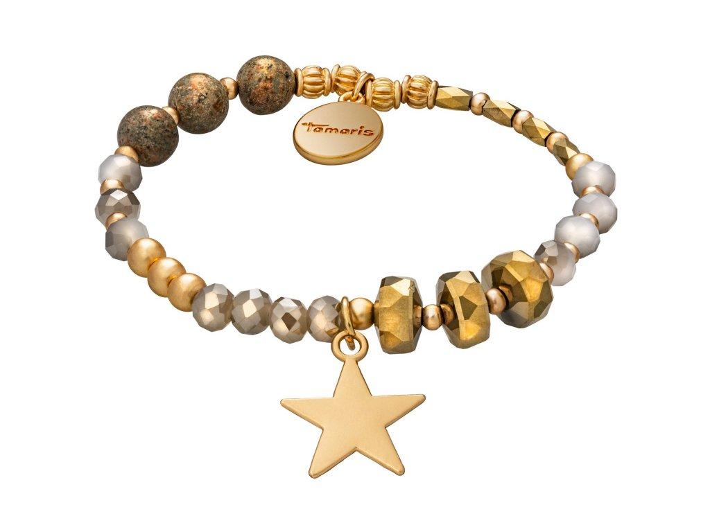 Náramek Tamaris Abby zlato-bronzové barvy s přívěskem hvězdy