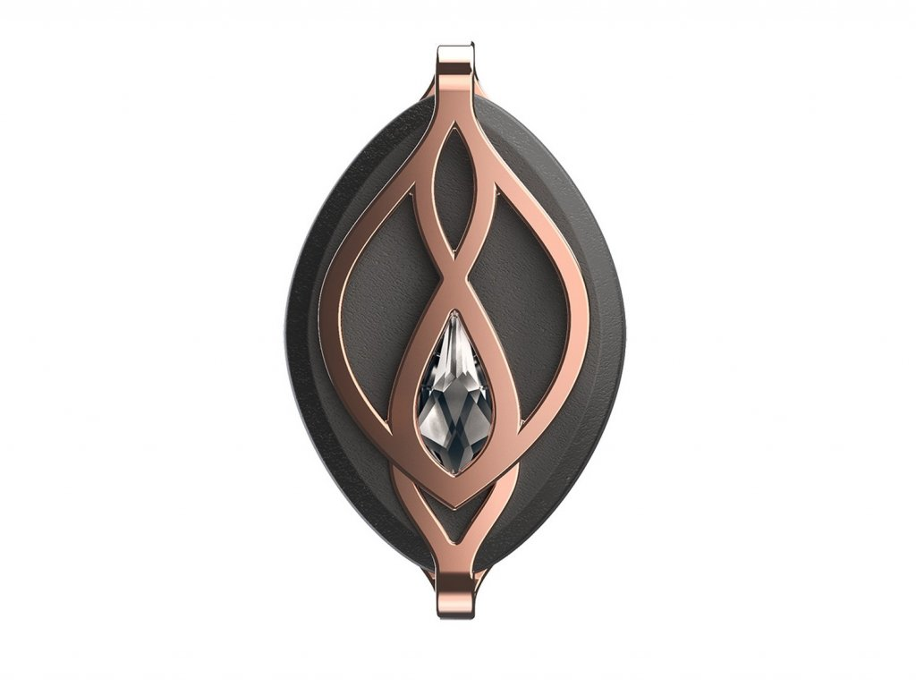 1503 chytry sperk a fitness monitor leaf crystal rose gold s kristalem