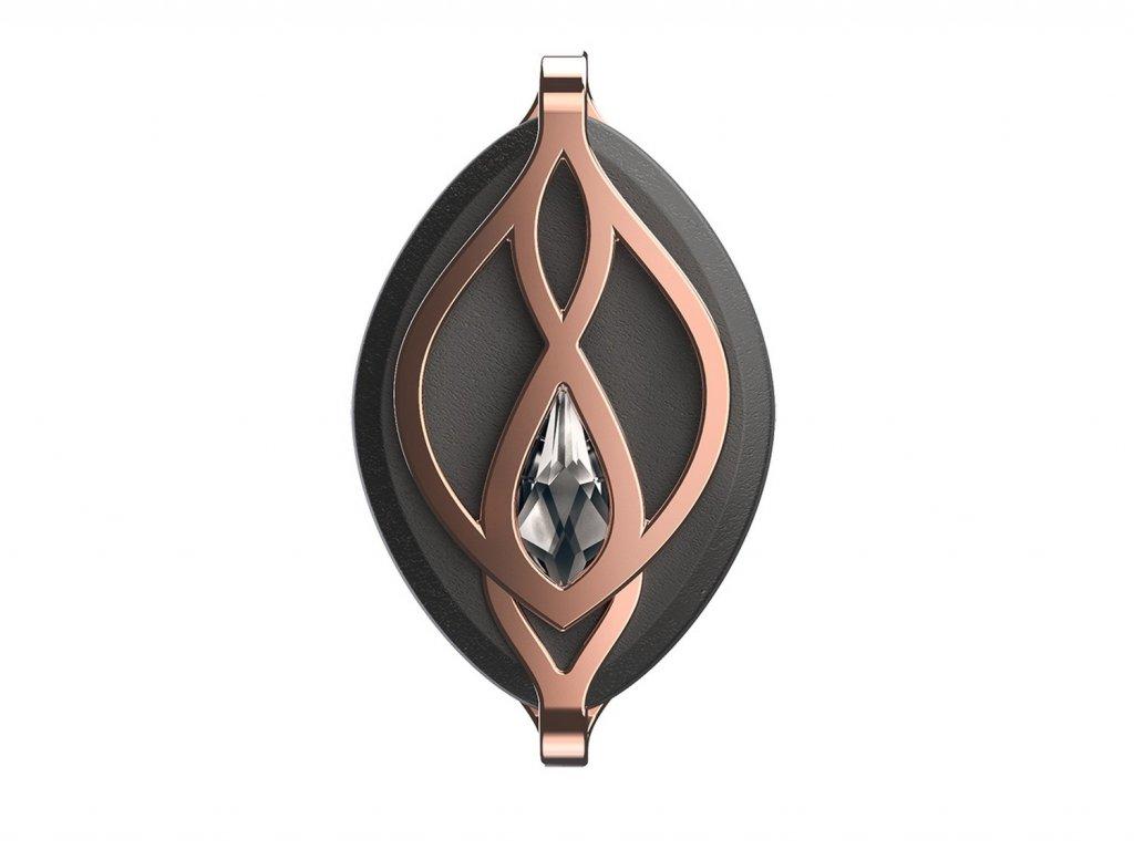 Chytrý šperk a fitness monitor Leaf Crystal Rose Gold s křišťálem Swarovski®