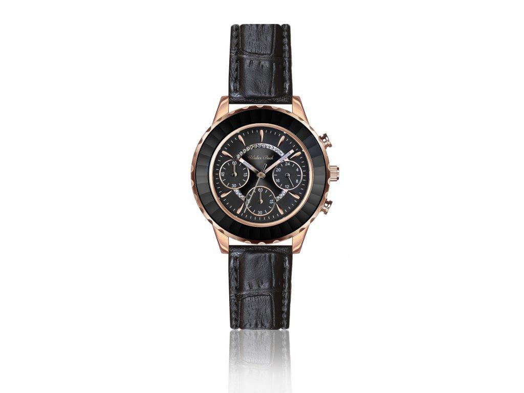 387 walter bach roth croco black leather wbg b009r