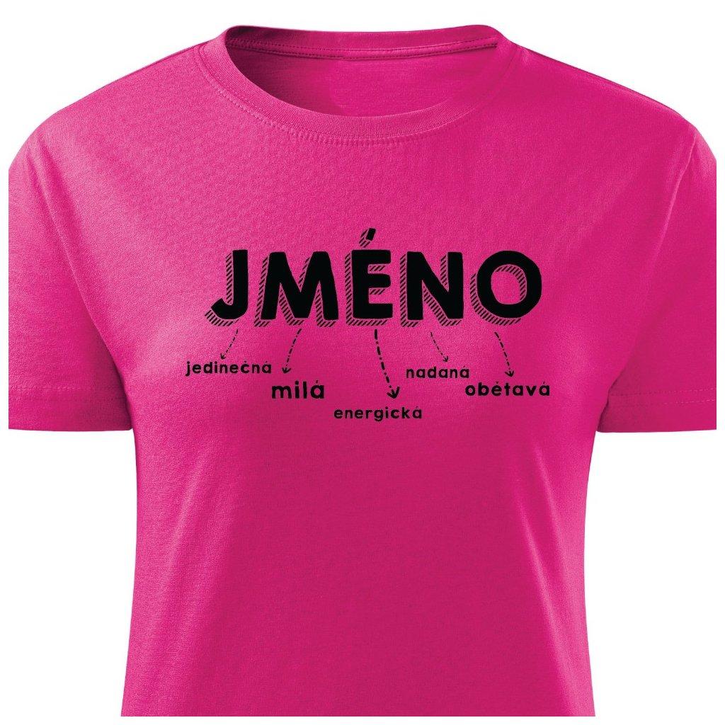 Dámské tričko Jméno na přání