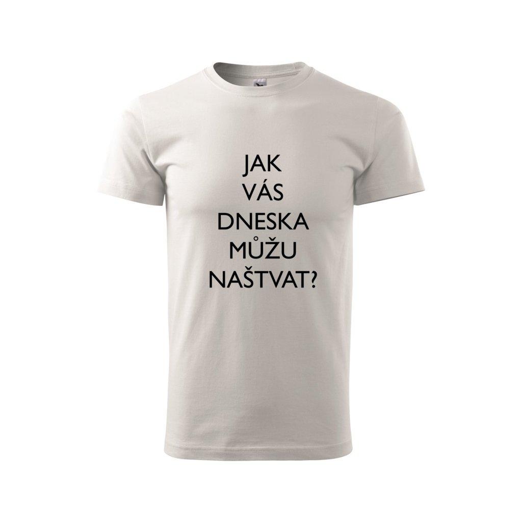 Pánské tričko Jak vás dneska můžu naštvat?