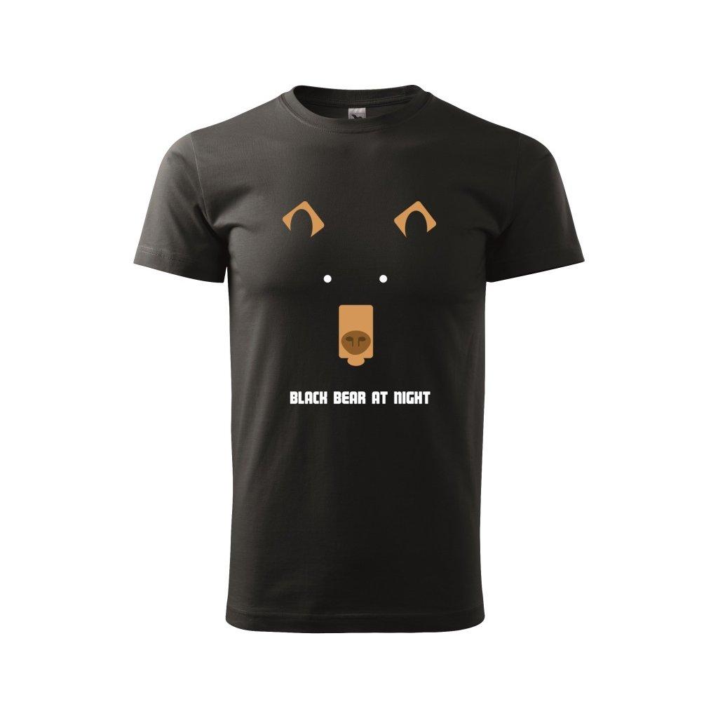 Pánské tričko Medvěd v noci