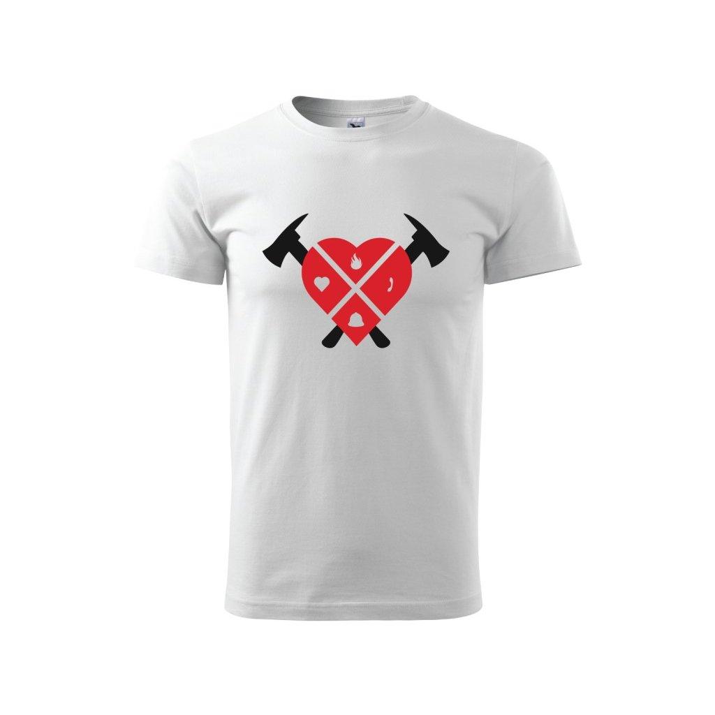 Pánské tričko Hasiči - srdce a sekery