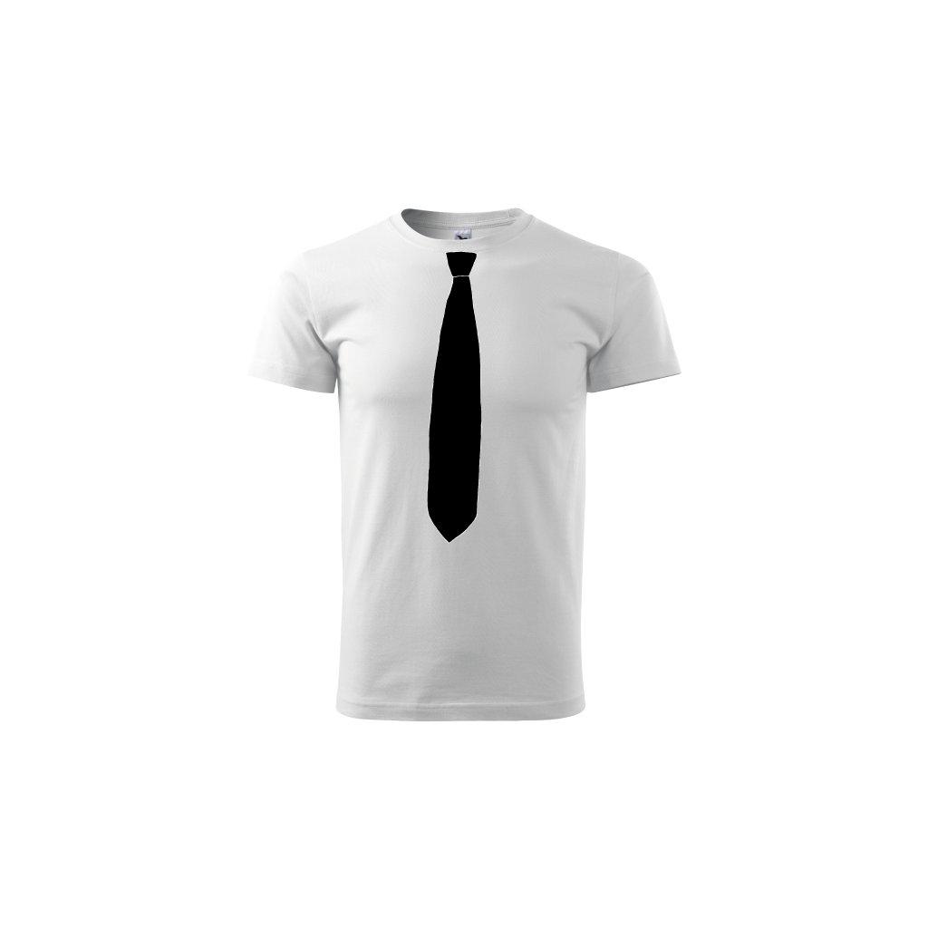Pánské tričko Kravata černá