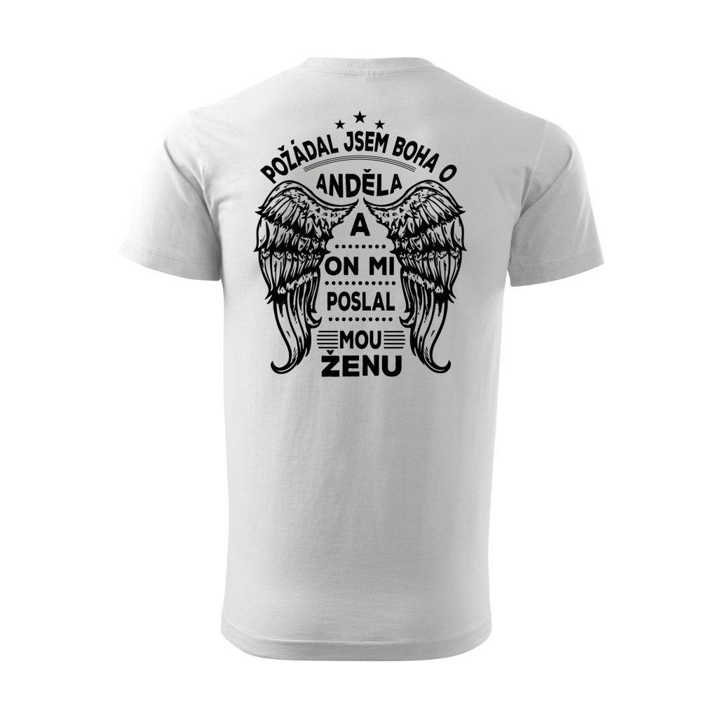 Pánské tričko Žena - anděl