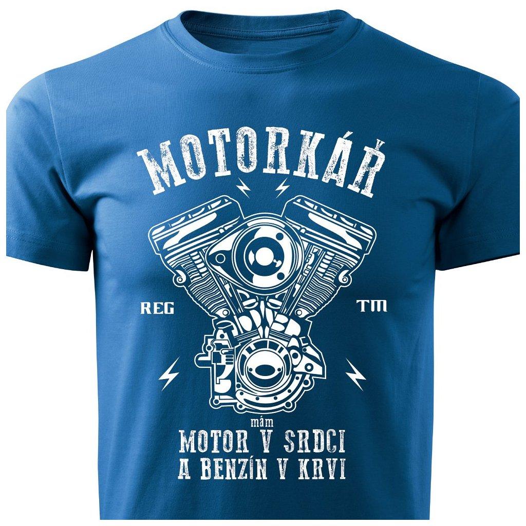 Pánské tričko Jsem motorkář - modré