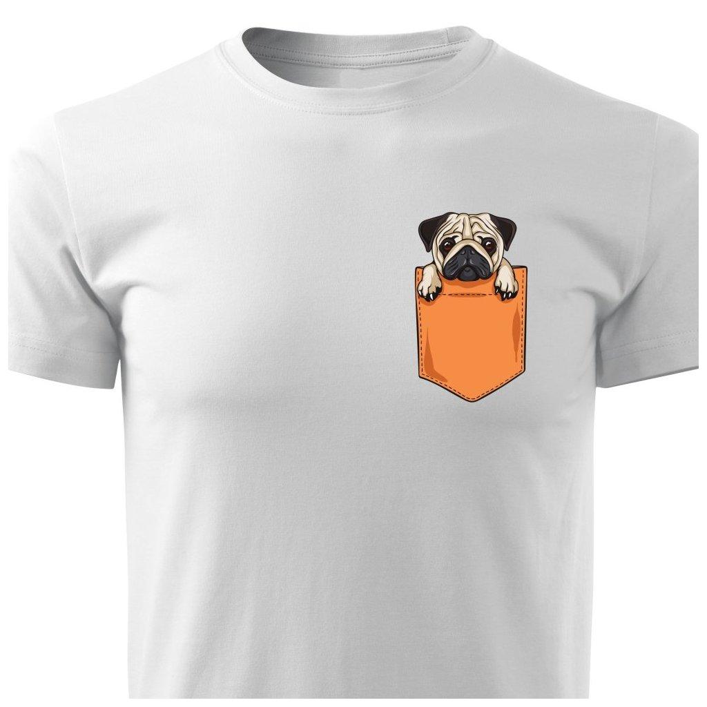 Pánské tričko Mopsík v kapse