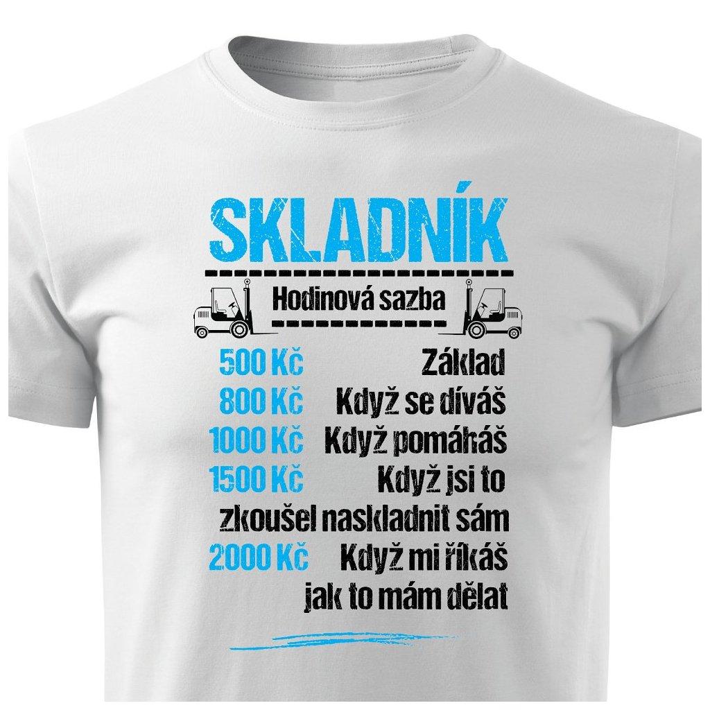 Pánské tričko Tričko Skladník - sazba