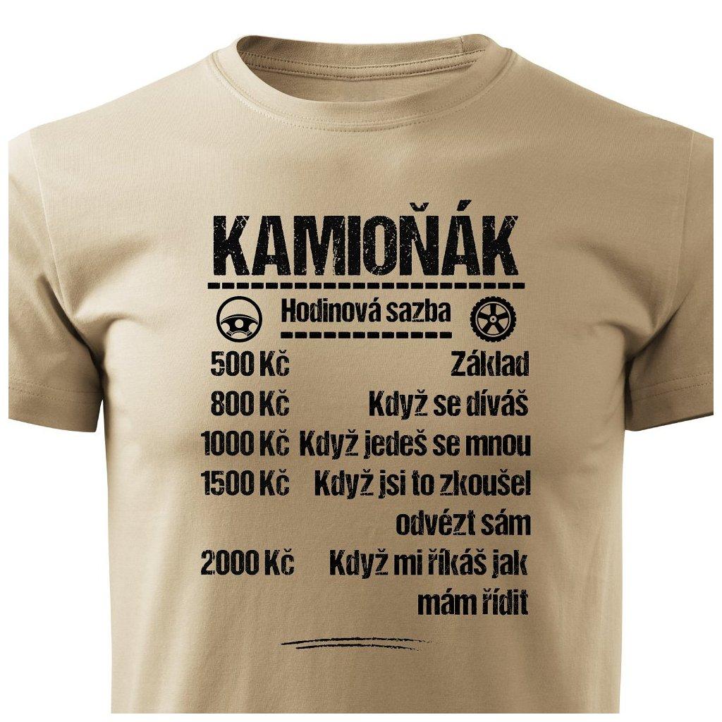 Pánské tričko Tričko Kamioňák - sazba