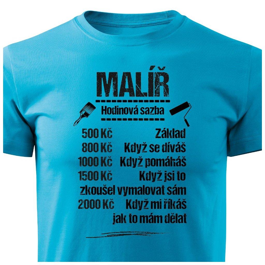 Pánské tričko Tričko Malíř  - sazba