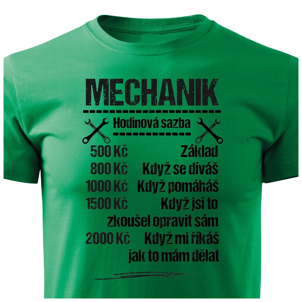 Pánské tričko Tričko Mechanik - sazba