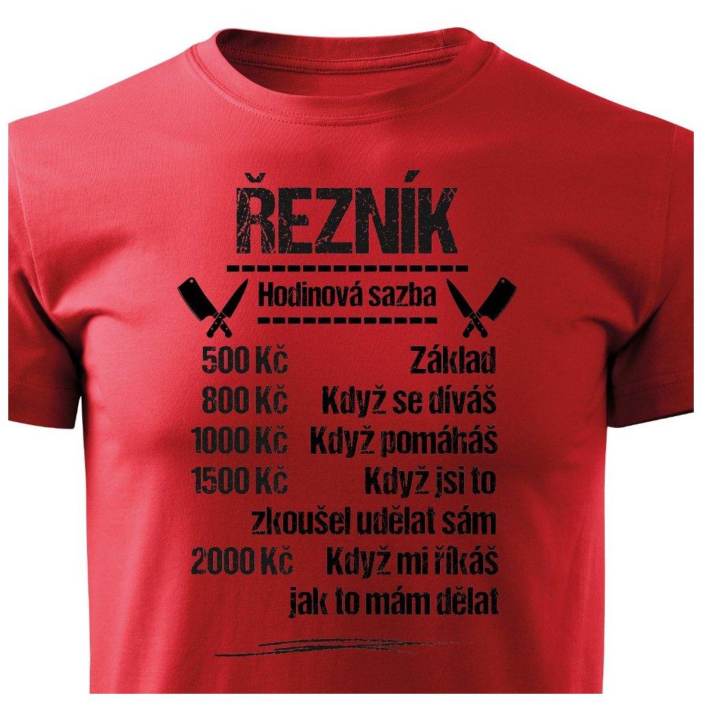 Pánské tričko Tričko Řezník - sazba