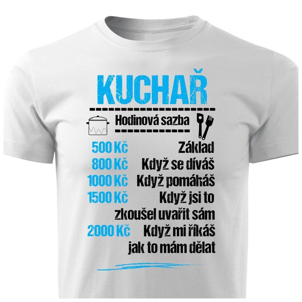 Pánské tričko Tričko Kuchař - sazba