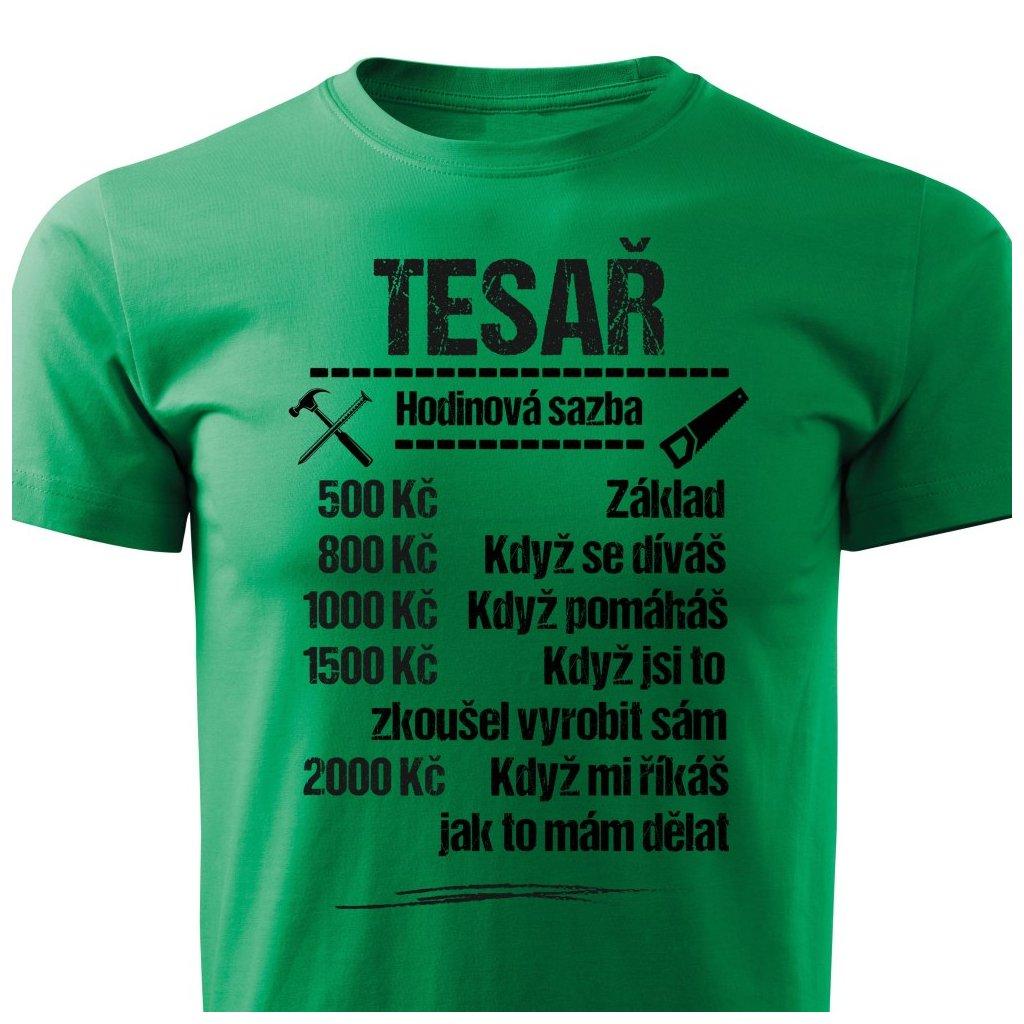 Pánské tričko Tričko Tesař - sazba